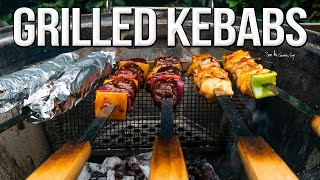 Juicy Grilled Chicken & Steak Kebabs | SAM THE COOKING GUY 4K