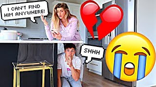 DISAPPEARING PRANK ON FIANCÉ!