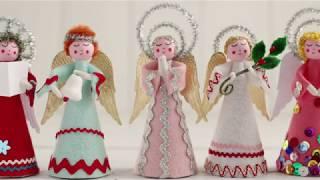 DIY Retro Felt Angels - Vintage Style Christmas Craft