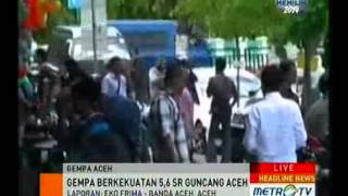 Guncang Aceh Gempa Tak Berpotensi Tsunami