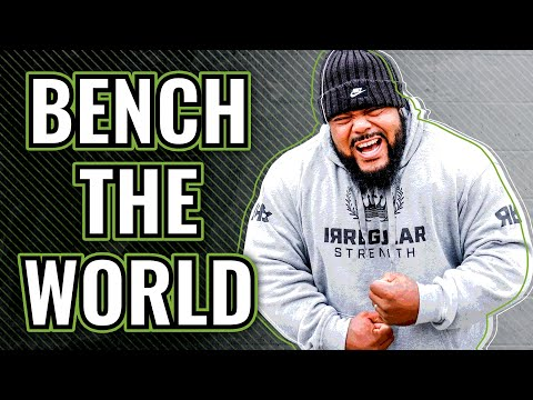 Julius Maddox Bench Presses 355 Kilograms Raw for New All-Time World Record