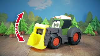 Traktorius su priekaba 65 cm   Happy Farm Trailer   Dickie 3819002