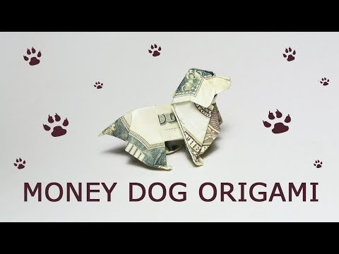 Symbol 2018 GIFT FOR CHRISTMAS Money Dog Origami Dollar Tutorial