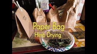 Paper Bag Herb Drying