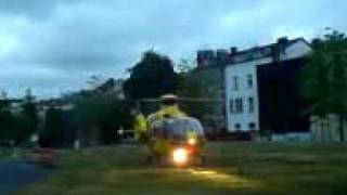 preview picture of video 'ADAC-Helikopterstart in Aachen'