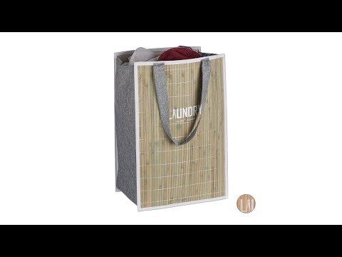 Bambus Wäschekorb faltbar