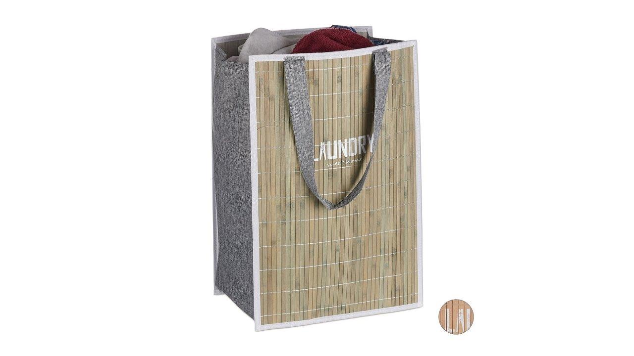 Video von: Bambus Wäschekorb faltbar