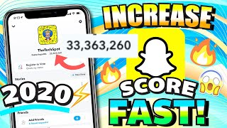 Increase Snapchat Score FAST 2020 (33,000,000+ SNAP SCORE) iPhone (iOS) / Android - EASIEST WAY