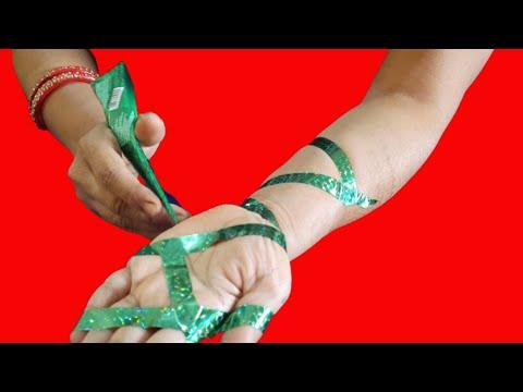 CELLO TAPE Mehndi design | How to Apply Mehndi Design with Cello tape | Simple Mehndi Design