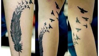 Raven Feather Tattoos