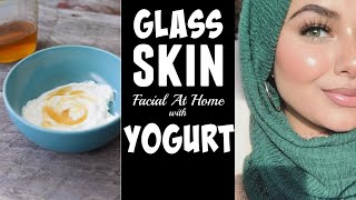 Glass Skin Facial At Home With Yogurt