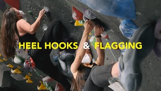 Teaching a Beginner Climber How to Flag and use Heel Hooks || She's a fast learner! by  rockentry
