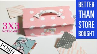 EASY 3x3 NOTECARD and Envelopes/ 3x3 Card Sets⭐️⭐️MAKE ENVELOPES WITHOUT A PUNCHBOARD⭐️⭐️