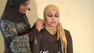 طريقة ربط الحجاب الاسلامي