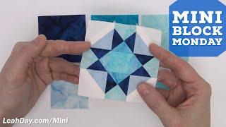 How To Piece A Mini Four X Quilt Block - Mini Block Monday #4