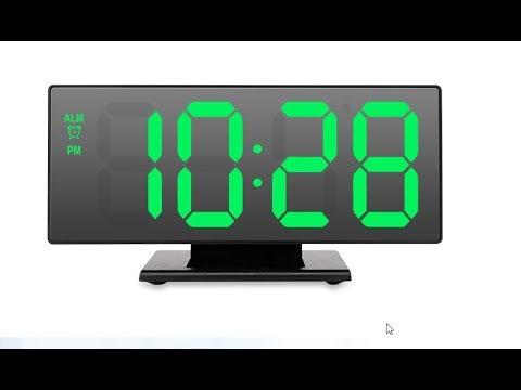 Электронные настольные часы с огромными цифрами