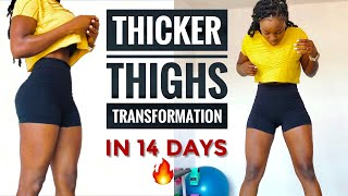 GET THICKER THIGHS/BOOTY/LEG WORKOUT IN 14 DAYS|No Equipment(10 Min)
