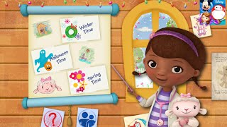Doc McStuffins Color And Play Disney Junior Animated Coloring Book Paint 3D Games PART 1