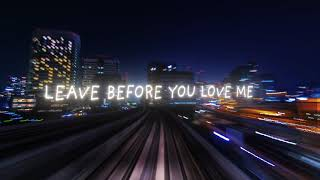 Marshmello x Jonas Brothers - Leave Before You Love Me (Lyric Video)