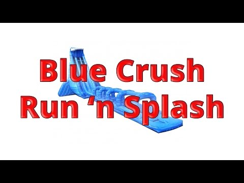 42 Foot 'Blue Crush Run 'N Splash' Inflatable Water Slide