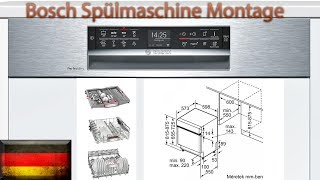 #93 Bosch Spülmaschine Montage SMI68TS06E