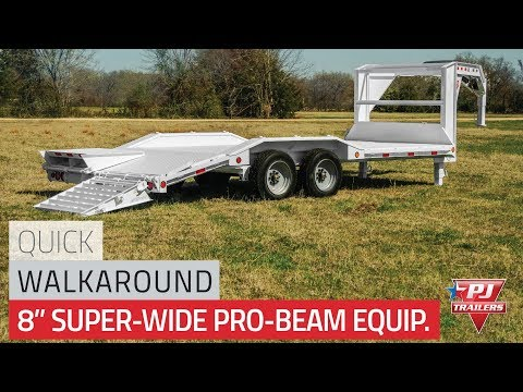 2021 PJ Trailers 8 in. Pro-Beam Super-Wide Equipment (H6) 30 ft. in Acampo, California - Video 1