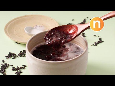 Black Glutinous Rice with Coconut Milk | Pulut Hitam | Black Rice Dessert | [Nyonya Cooking]