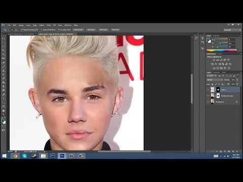 How to Blend Two Faces in Adobe Photoshop Cs6 - смотреть