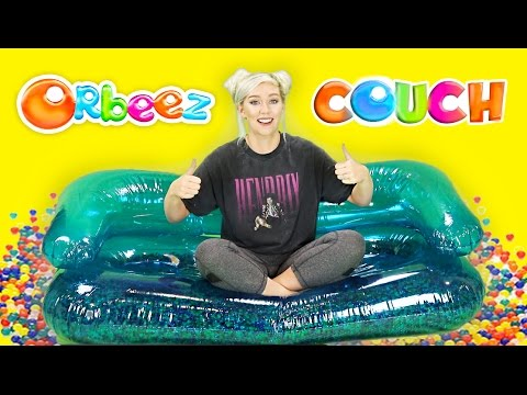 DIY ORBEEZ COUCH! SO COMFORTABLE! SUMMER FUN! | NICOLE SKYES