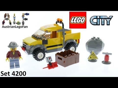 Vidéo LEGO City 4200 : Le 4x4 de la mine