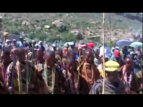 Basotho initiates singing in Lesotho
