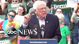 Sen. Bernie Sanders on the campaign trail