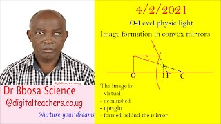 O level physics curved mirrors or  concave and convex mirrors