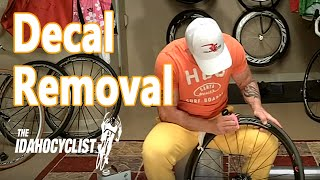 How To Remove & Install Bike Decals.  Decal Removal Hacks.