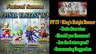 FF BE Pure Summoner Rydia and King's Knight Banner: Should You Summon (#425)