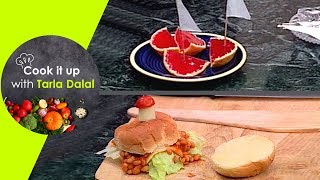 Cook It Up With Tarla Dalal - Ep 12 - Cheesy Vegetable Pasta, Bean & Cheese Burgers and Jelly Boats