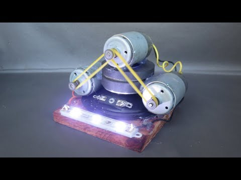 Free energy generator electricity with light bulbs – Homemade science projects DIY 2018