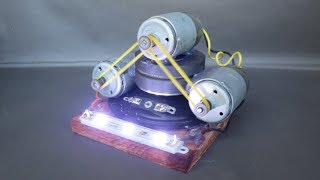 Free Energy Generator Electricity With Light Bulbs - Homemade Science Projects DIY 2018