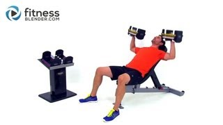 Chest and Back Superset Workout - At Home Dumbbell Workout for Strength and Size by FitnessBlender