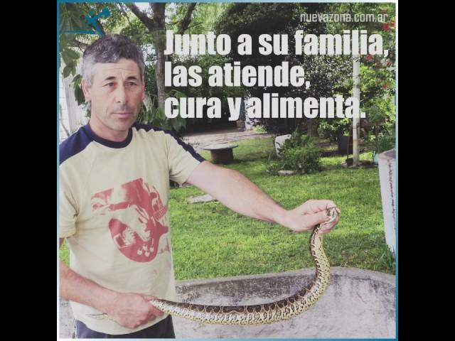 Don Edgardo, el Domador de serpientes
