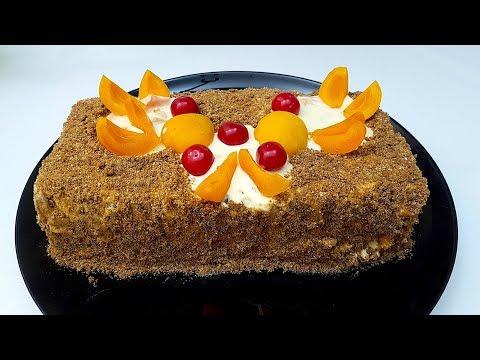 Торт БЕЗ ВЫПЕЧКИ за 15 минут! Удивительно вкусный!