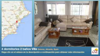 preview picture of video '4 dormitorios 2 baños Villa se Vende en Dolores, Alicante, Spain'