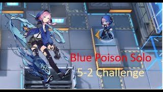 Blue Poison  - (Arknights) - [Arknights] Blue Poison Solo DPS (5-2 Challenge Mode)