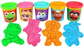 Muppet Babies Play Doh Molds Learn Colors with Baby Kermit Piggy Fozzie Animal Gonzo Summer Penguin