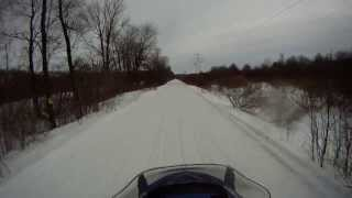 preview picture of video 'Snowmobiling - Lakeview, Mayville, NY to Whiskey Hill Saloon, Cassadaga, NY - Part 2'