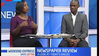 Newspaper Review: A look at today's dailies