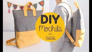 DIY Tutorial Mochila Con Bolsillo Y Asas.
