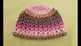 The V-Stitch Hat Crochet Tutorial!