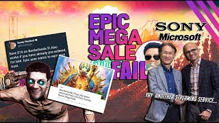 Epic Store Mega Sale Fail + Sony & Microsoft team up to sell you a streaming service