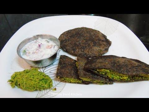 Healthy Breakfast Menu  3 - Diabetic Breakfast Menu - Weight Loss Recipe - Ragi Paratha Recipe